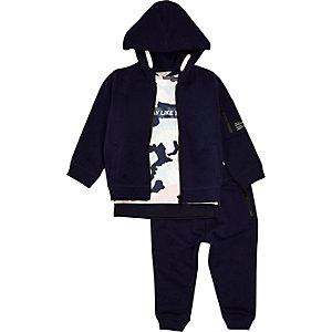 Sweats à capuche, t-shirts et pantalons de survêtement bleus mini garçon