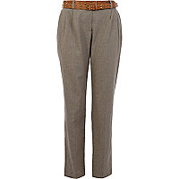 Beige tailored smart trousers