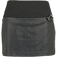 Black sequin mini skirt
