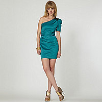 Green one shoulder dress