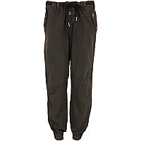 Black combat washed trouser