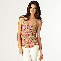 Orange print camisole vest top
