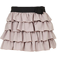 Beige tiered skirt