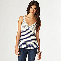 Blue stripe cami