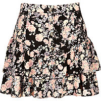 Floral highwaisted ra ra skirt