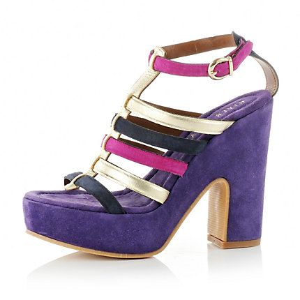 colour block, shoe, heel purple