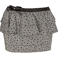 Grey heart print skirt