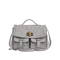 Light lilac pocket satchel