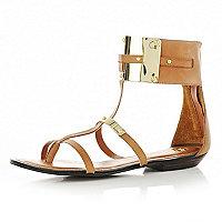 Brown cuff sandals
