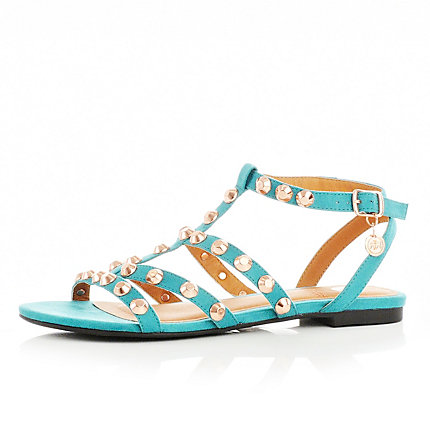 Turquoise Studded Sandals by River Island, £34.99