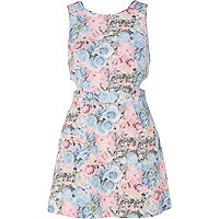 Blue floral pinny dress