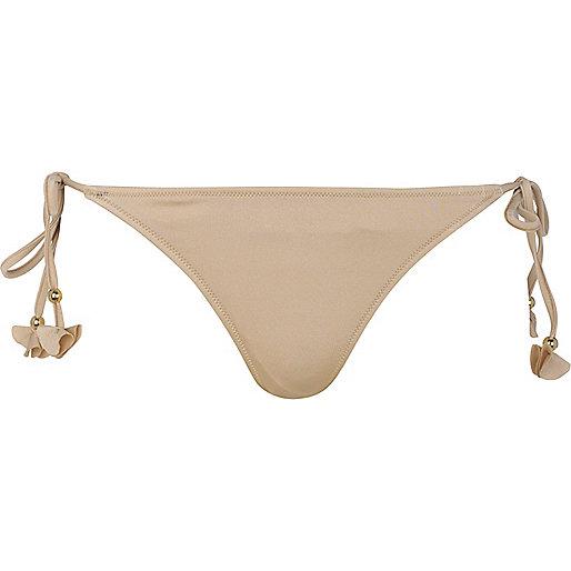 Gold bikini briefs