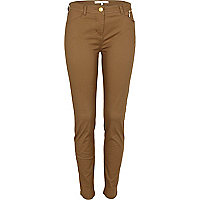 Dark brown skinny trousers
