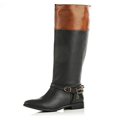 Black riding boots