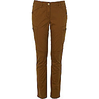 Brown utility trousers