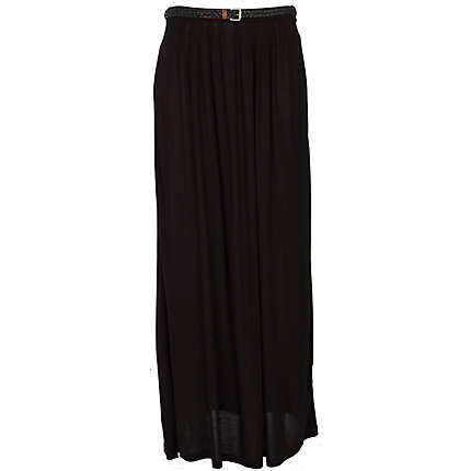 black jersey belted maxi skirt skirts sale