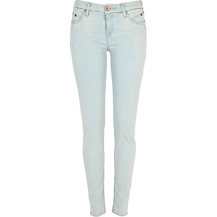 Light blue olive skinny jeans