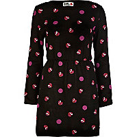 Black print chelsea girl knitted dress