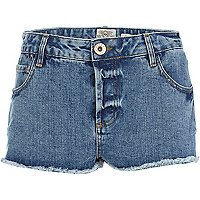 Mid wash super short denim hotpants