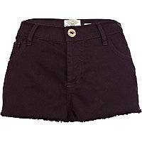 Dark purple super short denim hotpants