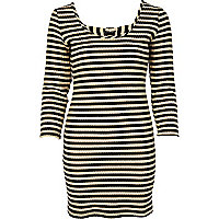 Black stripe chelsea girl bodycon dress