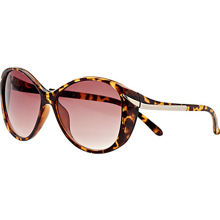Brown print sunglasses