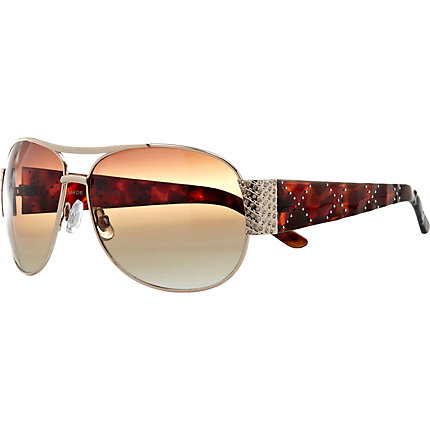 Gold quilt arm sunglasses