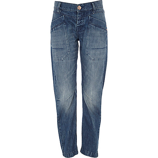 Mid wash denim darcy slouch jeans