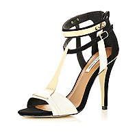 Black metal detail sandals