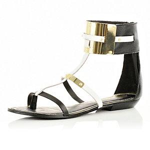 Black ankle cuff sandals
