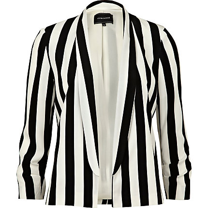 Black stripe ponte jacket