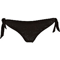 Black diamante bikini briefs