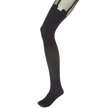 Black House of Holland mock suspender tights