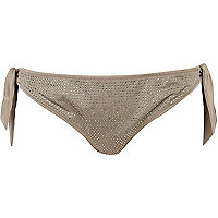 Bronze diamante bikini briefs