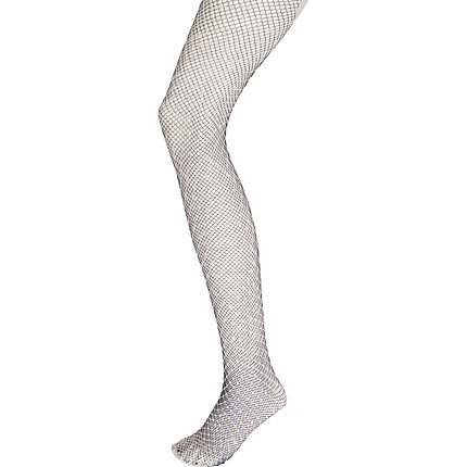 Grey henry holland layered fishnet tights