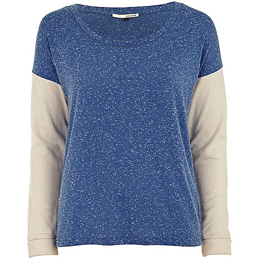 Blue speckled top