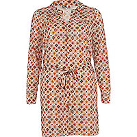 Beige print chelsea girl shirt dress