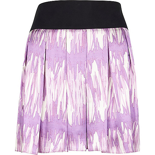 Pink scribble print julian j smith skirt