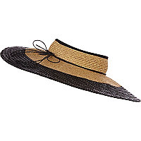 Black straw headless hat