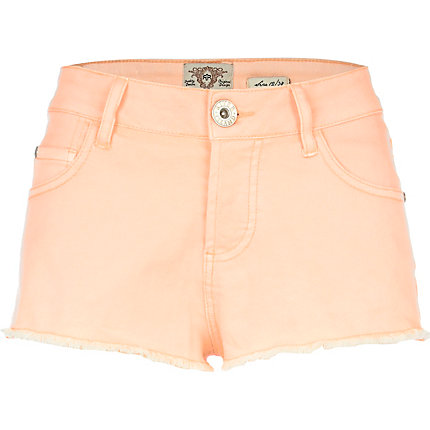 Orange super short denim hotpants