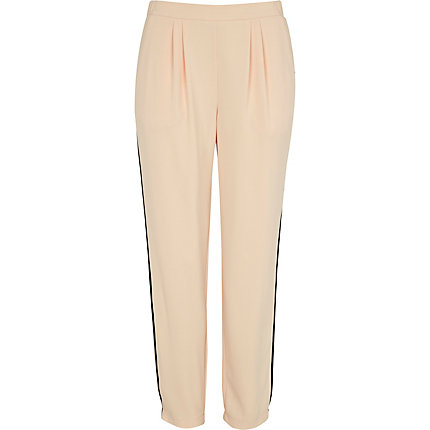 Peach tapered trousers
