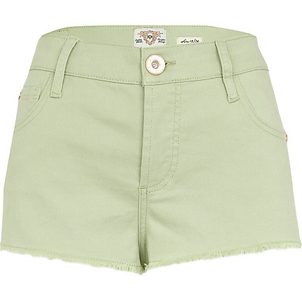 Light green super short denim hotpants