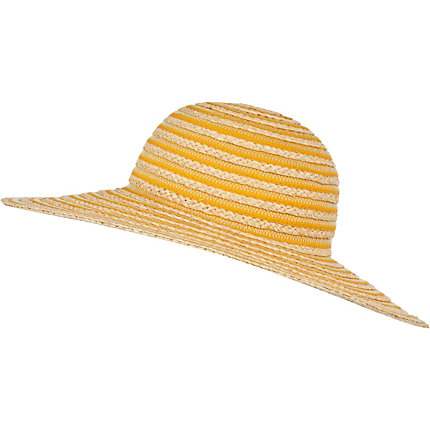 Orange stripe sun hat