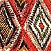 Orange aztec print midi dress