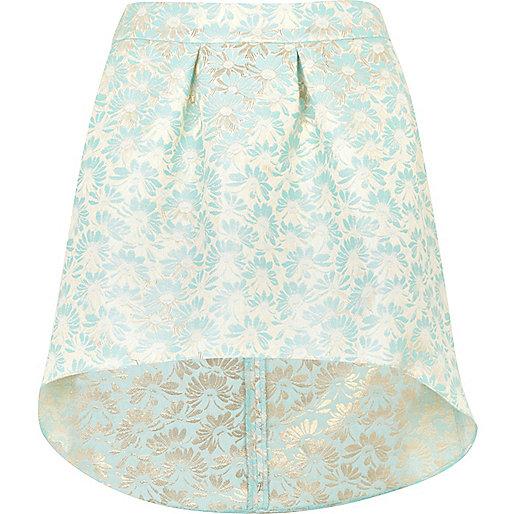 Light green jacquard skirt