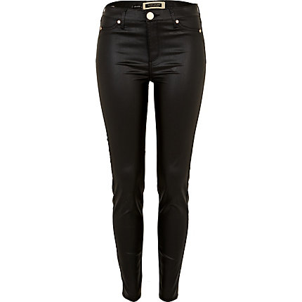 Black wet look Molly jeggings