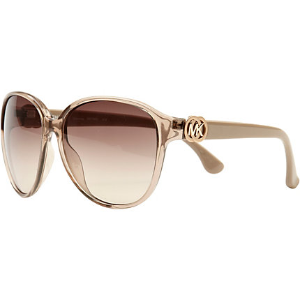 Beige michael kors oversized sunglasses