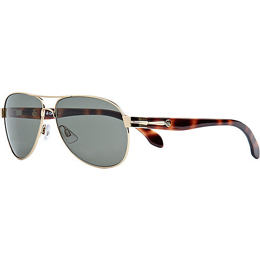 Gold calvin klein aviator sunglasses