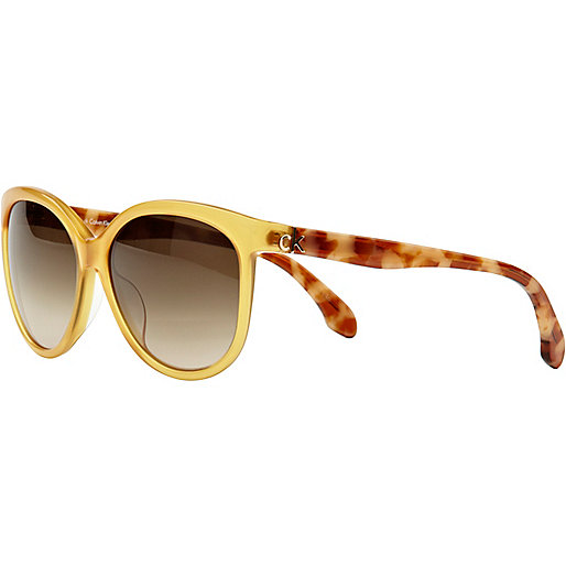 Brown print calvin klein sunglasses