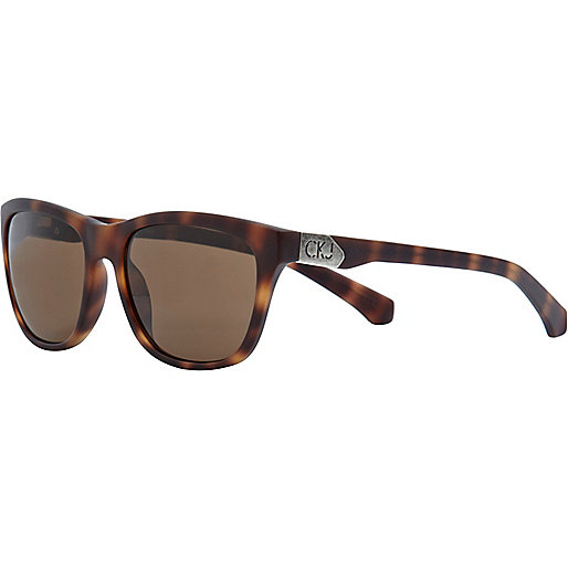 Brown print calvin klein jeans sunglasses